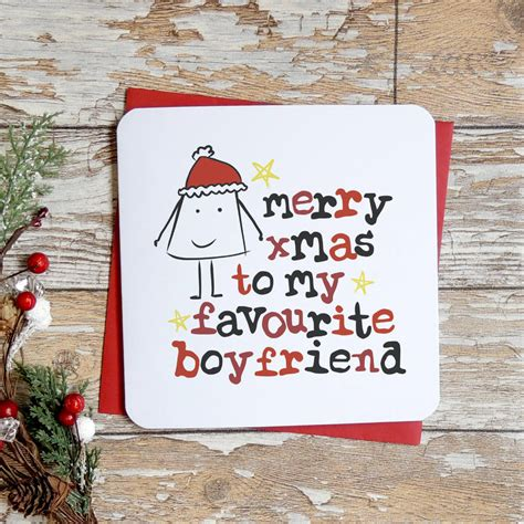 merry christmas pictures for your boyfriend merry christmas to my favourite boyfriend card by parsy card co notonthehighstreet com