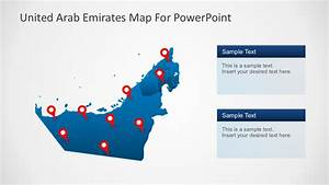 Uae Map Pins For Powerpoint