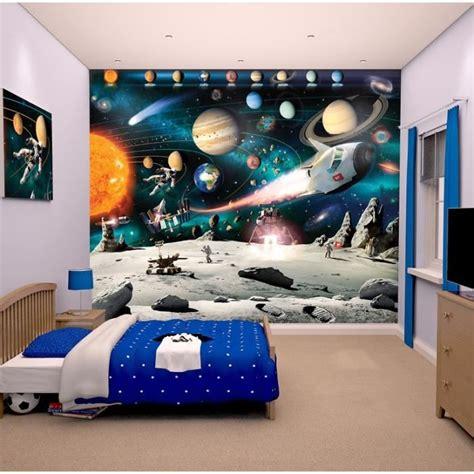 stickers chambre fille princesse papier peint enfant fresque murale décorative planètes