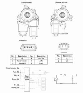 Kia Cee U0026 39 D - Power Window Motor Schematic Diagrams