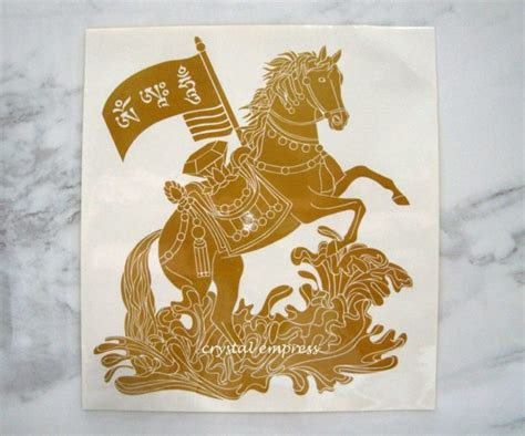 Victory Wind Horse Sticker-crystal Empress Feng