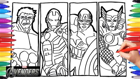 Avengers Drawing & Coloring