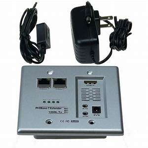 Ntw Hdbase-t Hdmi And Networking Wall Plate Extender With Cat5e  6 Ready-nhdbt-ht100wp