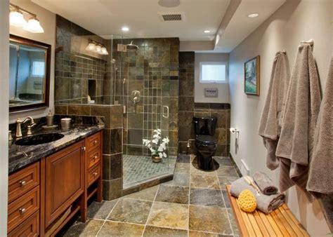 masculine bathroom  dark tile shower black toilet hgtv