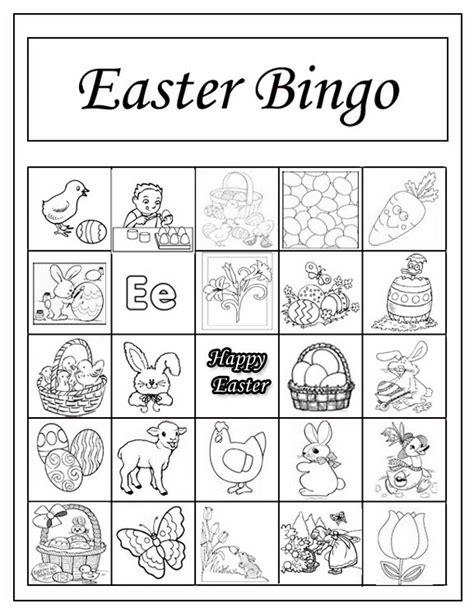 10 easter bingo printable cards