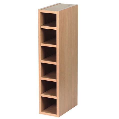 kitchen wine rack cabinet it kitchens oak effect wine rack cabinet w 150mm 6485
