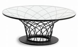 Table Basse Verre Et Acier : table basse ronde acier noir et plateau verre tremp pilya ~ Teatrodelosmanantiales.com Idées de Décoration