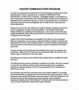 hazard communication program template beepmunk With osha safety program template