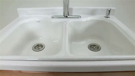 how to install a cast iron kitchen sink kohler kitchen products hartland cast iron sink 9754