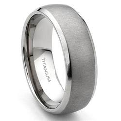 titanium wedding rings for titanium 7mm brushed 39 s wedding band ring