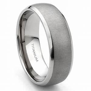 Titanium 7mm Brushed Men39s Wedding Band Ring