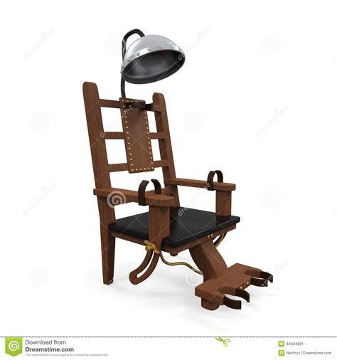 chaise lectrique electric chair isolated stock image image 34494981