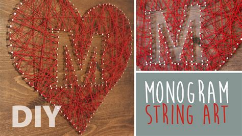 diy monogram string art artsypaints youtube