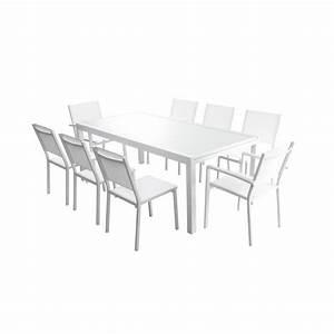 Table De Jardin Extensible Aluminium : ensemble table extensible de jardin 200 300 cm 8 ~ Teatrodelosmanantiales.com Idées de Décoration