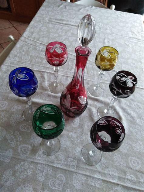 bicchieri a calice colorati cristallo di bohemia colorato bicchieri a calice