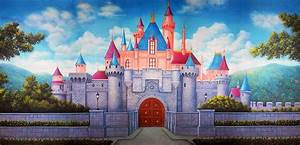 Princess Castle Scenic Stage Backdrop Rental | TheatreWorld