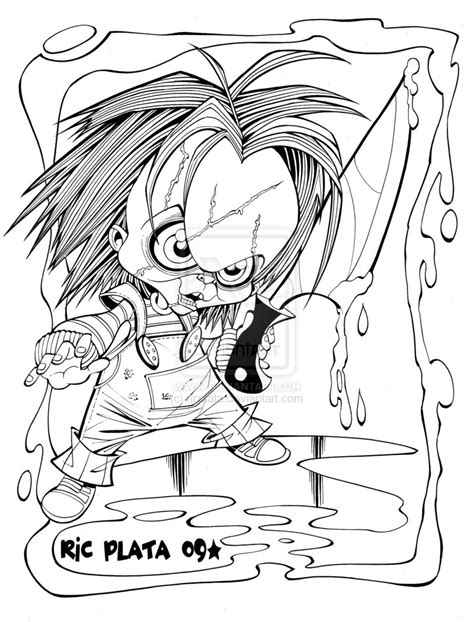 chucky coloring sheets  coloring pages
