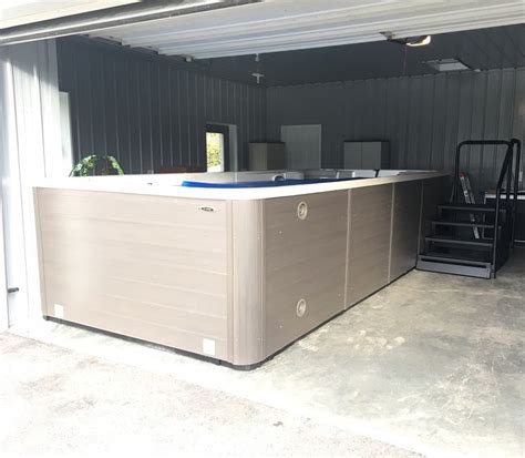 tub in garage looking for a cheap and easy way to install your new swim