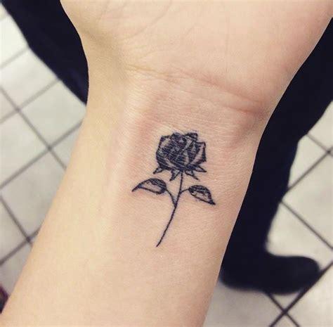 small black rose tattoo  wrist
