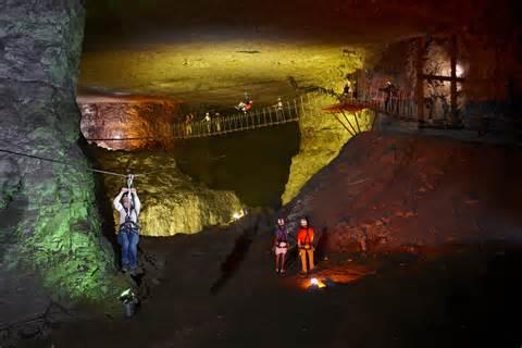 ziplining at mega cavern in louisville kentucky
