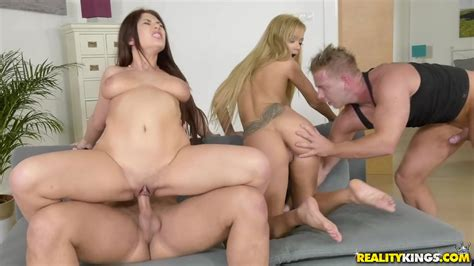 Two Busty Coeds Euro Sex Parties Ayda Swinger And