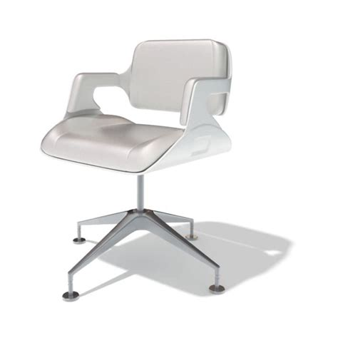 modern white office chair 3d model cgtrader