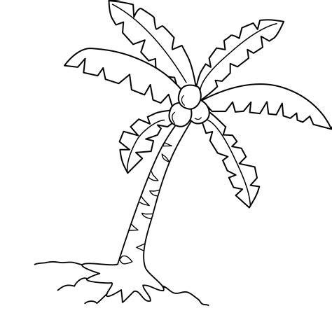 coconut tree coloring page  clip art