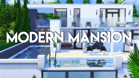 modern house plans free the sims 4 house build modern mansion no cc