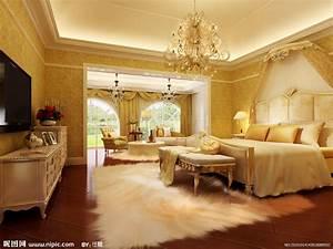 豪华欧式卧室效果图设计图__室内设计_环境设计_设计图库_昵图网nipic.com