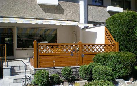 pvc sichtschutz als terrassengelaender