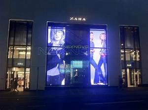 LED glass facade display, Hong Kong ZARA flagship ...