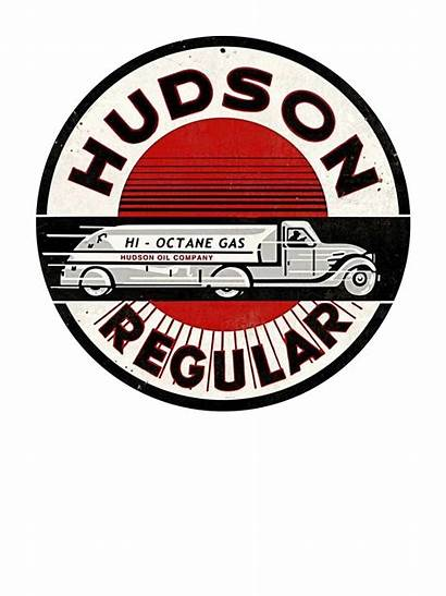 Metal Gasoline Hudson Signs Sign Round Gas