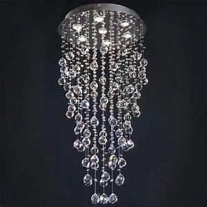 Lustre Cristal Moderne : lustre cristal 7 luminaires ciel et terre ~ Teatrodelosmanantiales.com Idées de Décoration
