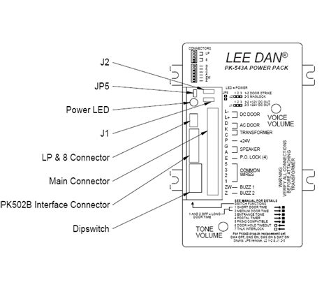 lee dan pk 543a apartment intercom lifier