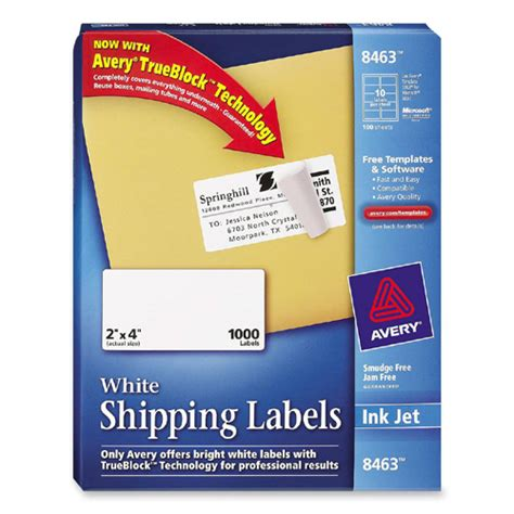 Avery Dennison Labels Templates by Printer