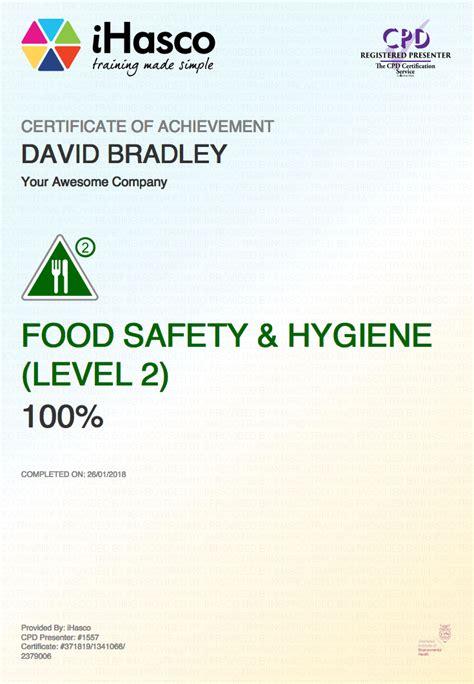 hygiene cuisine food safety and hygiene level 2 ihasco