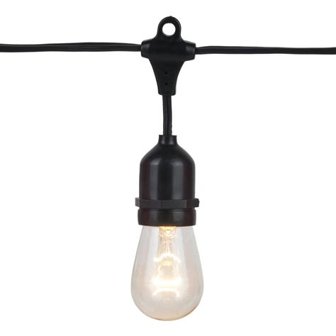 commercial patio light string suspended e26 medium