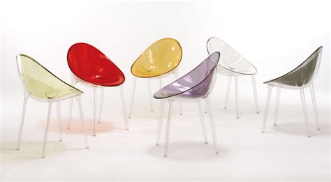 kartell chaises mr impossible armchair polycarbonate transparent by