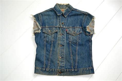 Vintage Levi's Big E Biker Jeans Vest From The '60's