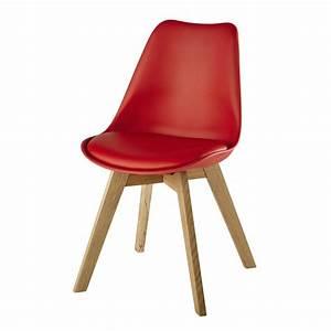 Chaise Scandinave Rouge : chaise scandinave rouge ice maisons du monde ~ Teatrodelosmanantiales.com Idées de Décoration