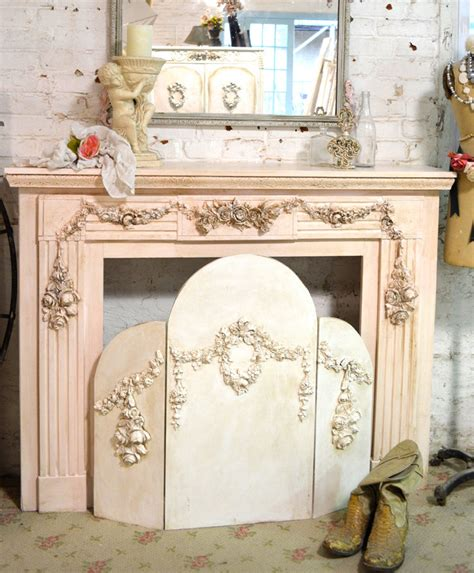 shabby chic fireplace painted cottage shabby chic fireplace screen