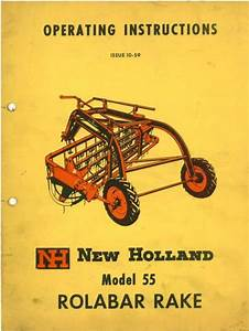 New Holland Rolabar Rake Model 55 Operators Manual