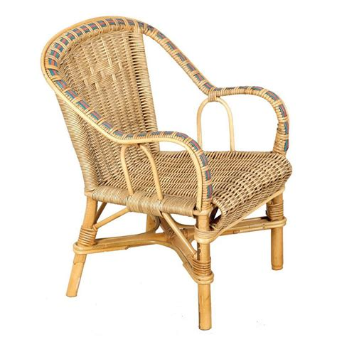 fauteuil enfant rotin naturel couleur vannerie du boisle