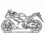 Coloring Motorcycle Pages Printable Sheets Boys Adult Bikes sketch template