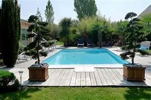 Amenagement Autour Piscine Photos : am nagement paysager autour d 39 une piscine avec une ~ Mglfilm.com Idées de Décoration