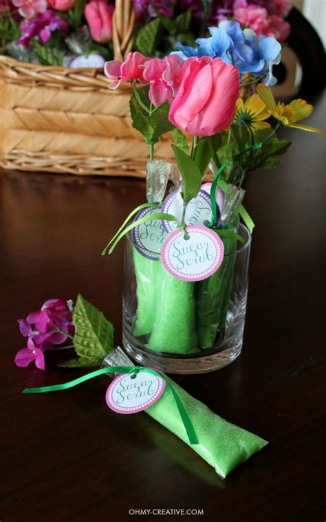 homemade sugar scrub shower favors oh my creative
