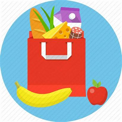 Grocery Icon Paper Bag Editor Open