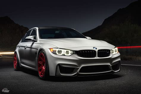bmw m3 alpine white bmw m3 with hre rs101m in frozen red