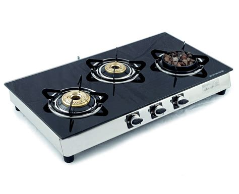 Sunshine Meethi Angeethi Three Burner Toughened Glass Top Gas Stove Sears Stoves Kenmore Lg Slide In Stove Camping Propane Through Wall Pipe Kit Ge Profile Parts Esbit Wing Pellet Mats Griddle For Glass Top Electric