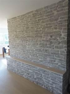Wand Mit Steinoptik : wohnwand stein optik lajas gris wandverkleidung ~ Watch28wear.com Haus und Dekorationen